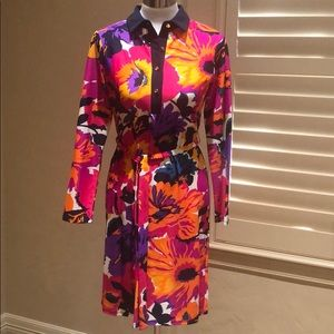 NWT Jude Connally Floral Print Belted Dress